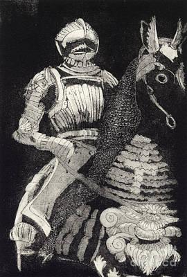 Medieval Knight On Horseback - Chevalier - Caballero - Cavaleiro - Fidalgo - Riddare -ridder -ritter Poster