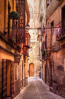 Medieval Street In Toledo Poster