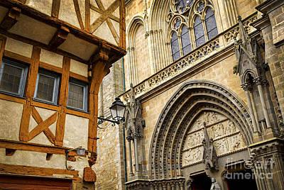 Medieval Vannes France Poster by Elena Elisseeva