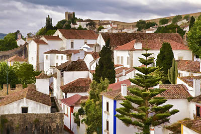 Medieval Village Of Romantic Obidos Poster by David Letts