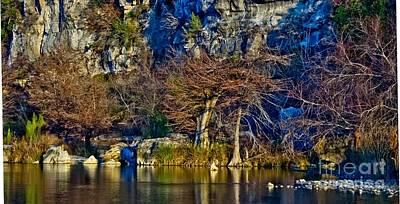 Medina River At Comanche Cliffs Poster