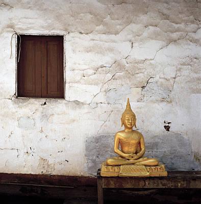 Meditation In Laos Poster