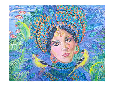Poster featuring the painting Meditation by Suzanne Silvir