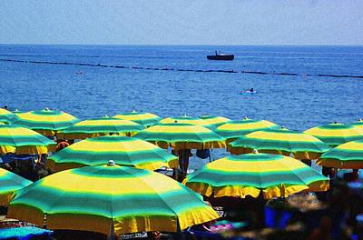 Mediterranean Beach At Amalfi Coast Italy  Poster by Irina Sztukowski