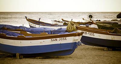 Mediterranean Boats Poster by Frank Tschakert