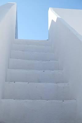 Mediterranean Staircase Poster
