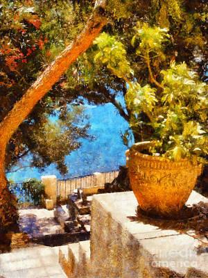 Mediterranean Steps Poster