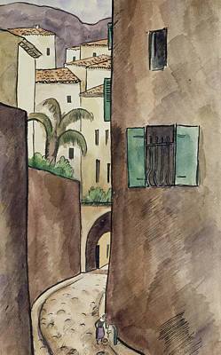 Mediterranean Street And Houses Poster by Louis Robert Antral