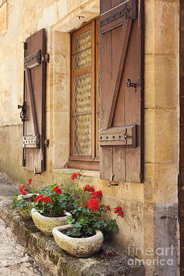 Mediterranean Window Boxes Poster by Ruth Black