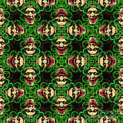 Medusa Abstract 20130131p0 Poster by Wingsdomain Art and Photography