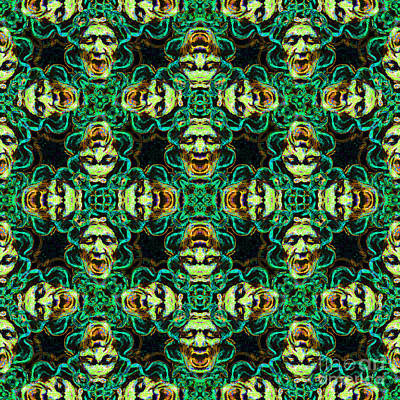 Medusa Abstract 20130131p38 Poster by Wingsdomain Art and Photography