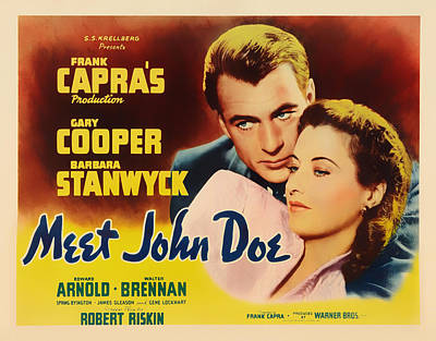 Meet John Doe Movie Poster Poster by Mountain Dreams