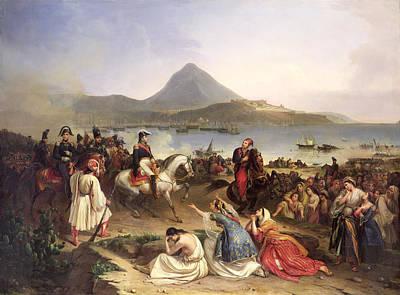 Meeting Between General Nicolas Joseph Maison 1771-1840 And Ibrahim Pasha 1789-1848 At Navarino Poster by Jean Charles Langlois