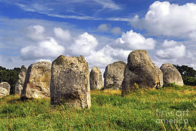 Megalithic Monuments In Brittany Poster by Elena Elisseeva