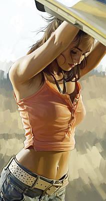 Megan Fox Artwork Poster by Sheraz A