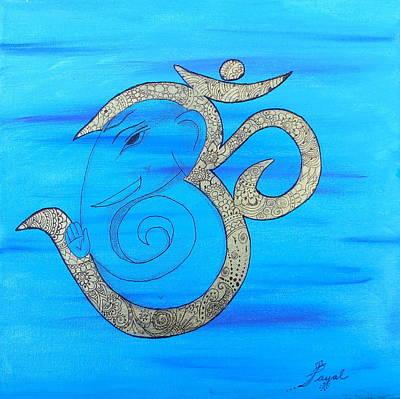 Mehndi Ganesh In Ohm  Poster