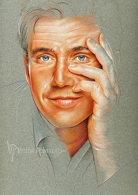 Mel Gibson Pencil Portrait Poster by Victor Powell