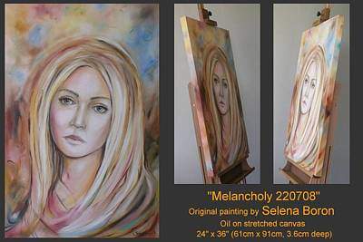 Poster featuring the painting Melancholy 220708 by Selena Boron