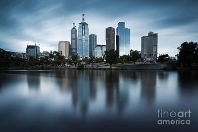 Melbourne Skyline Reflection Poster by Matteo Colombo