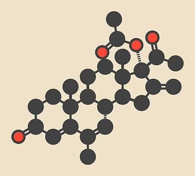 Melengestrol Hormone Molecule Poster by Molekuul