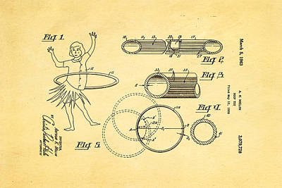 Melin Hula Hoop Patent Art 1963 Poster by Ian Monk