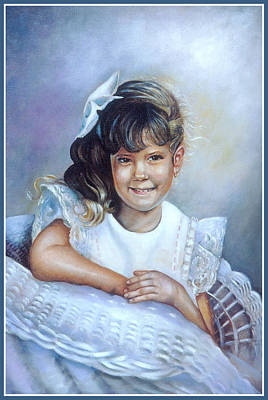 Poster featuring the painting Melissa by Patricia Schneider Mitchell