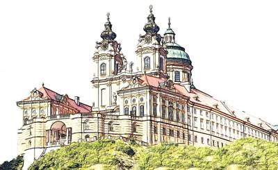 Melk Abbey In Lower Austria Poster