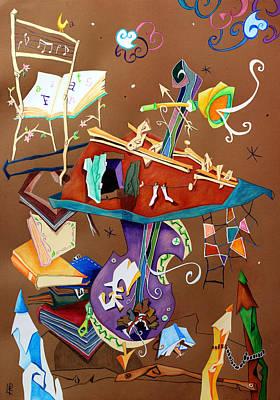 Melodia Del Silenzio - Art Collage - Music Concert For Violoncello Poster by Arte Venezia