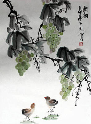 Poster featuring the painting Melody Of Life by Yufeng Wang
