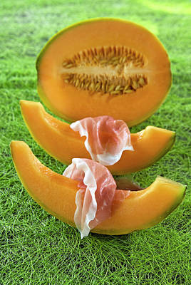 Melon Wedges (cucumis Melo Poster
