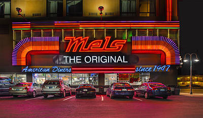 Mels Diner Poster by Gary Warnimont