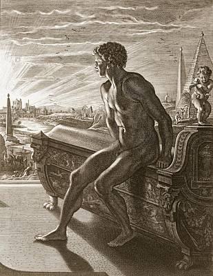 Memnons Statue, 1731 Poster by Bernard Picart
