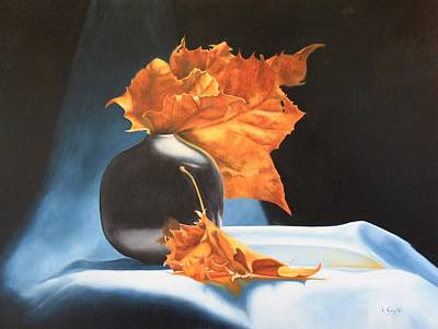 Memories Of Fall - Oil Painting Poster by Roena King