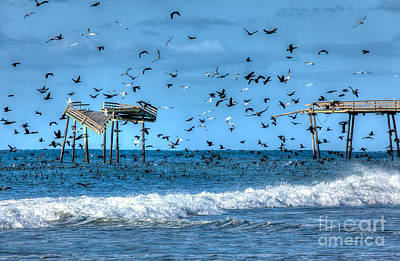 Memories Of Frisco Pier - Outer Banks I Poster by Dan Carmichael
