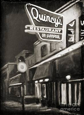 Memories Of Quincys Restaurant In Halifax Nova Scotia Poster by John Malone