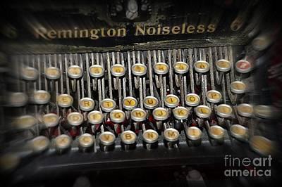 Memories Remington Noiseless Typewriter  Poster by JW Hanley