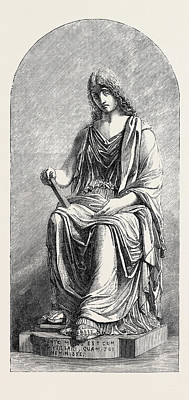 Memory Marble Statue Poster by Brodie, William (1815-81), English