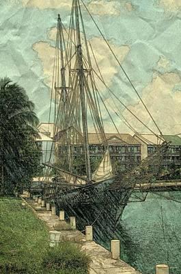 Memory Of A Ship Poster by Pamela Blayney
