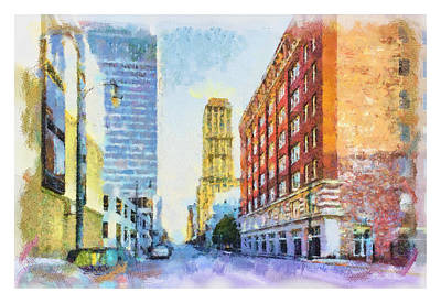 Memphis City Street Poster by Barry Jones