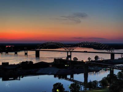 Memphis Sunset On The Mississippi 004 Poster