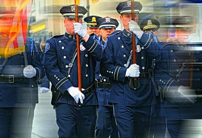 Men In Blue Poster