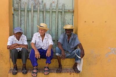 Men On The Street, Trinidad, Cuba Poster