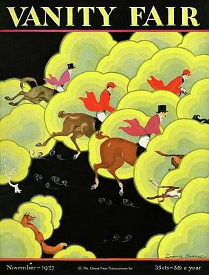 Men Pursuing A Fox Poster by Zoan Carnes