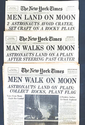 Men Walk On The Moon Poster