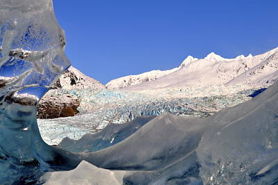 Poster featuring the photograph Mendenhall Glacier Refraction by Cathy Mahnke