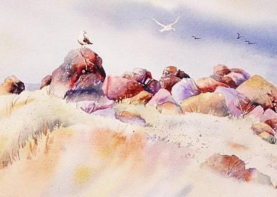 Mendocino Birds Poster