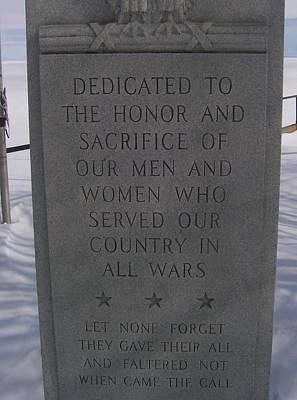 Menominee Memorial Poster