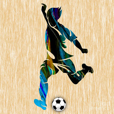 Mens Soccer Poster by Marvin Blaine