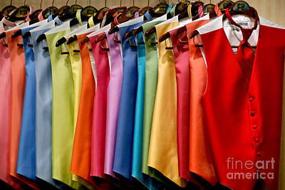 Mens Tuxedo Vests In A Rainbow Of Colors Poster