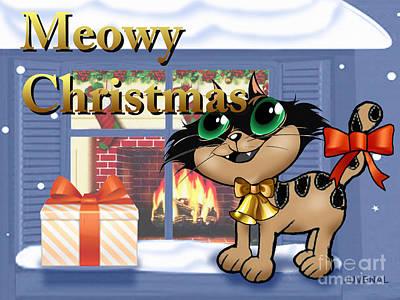 Meowy Christmas Poster